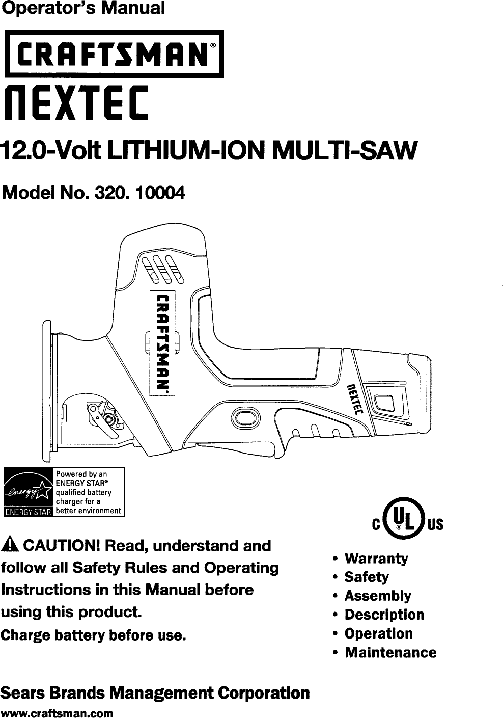 Craftsman 32010004 User Manual Saw Manuals And Guides L1005236 Lithiumion Battery Charger One Schematic