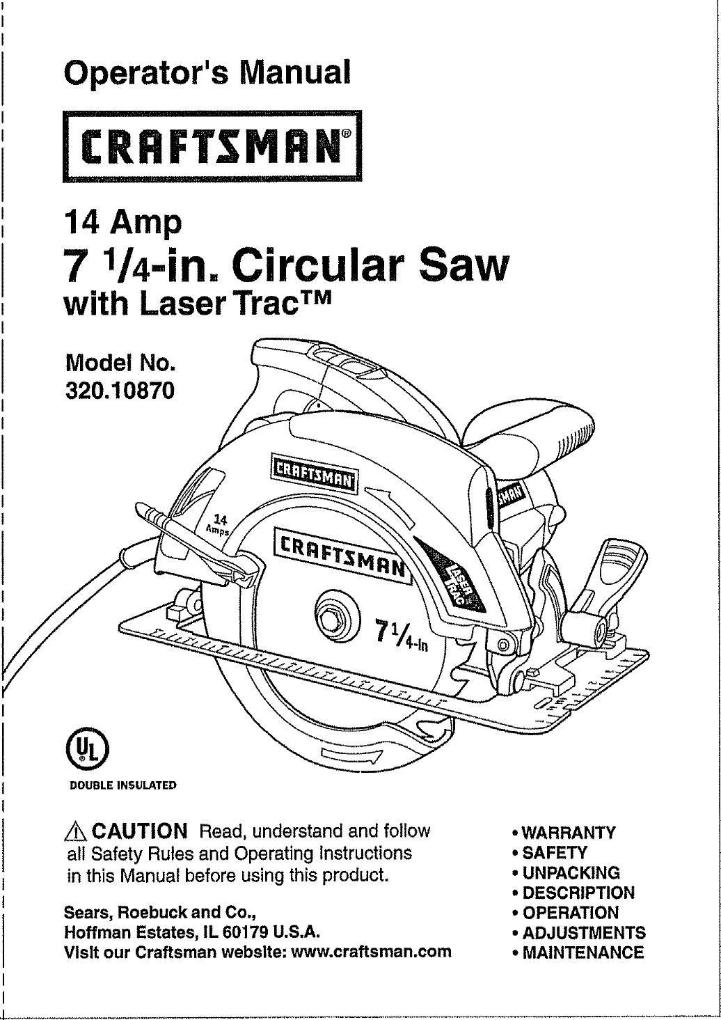 Skil Circular Saw Parts Manual Guide