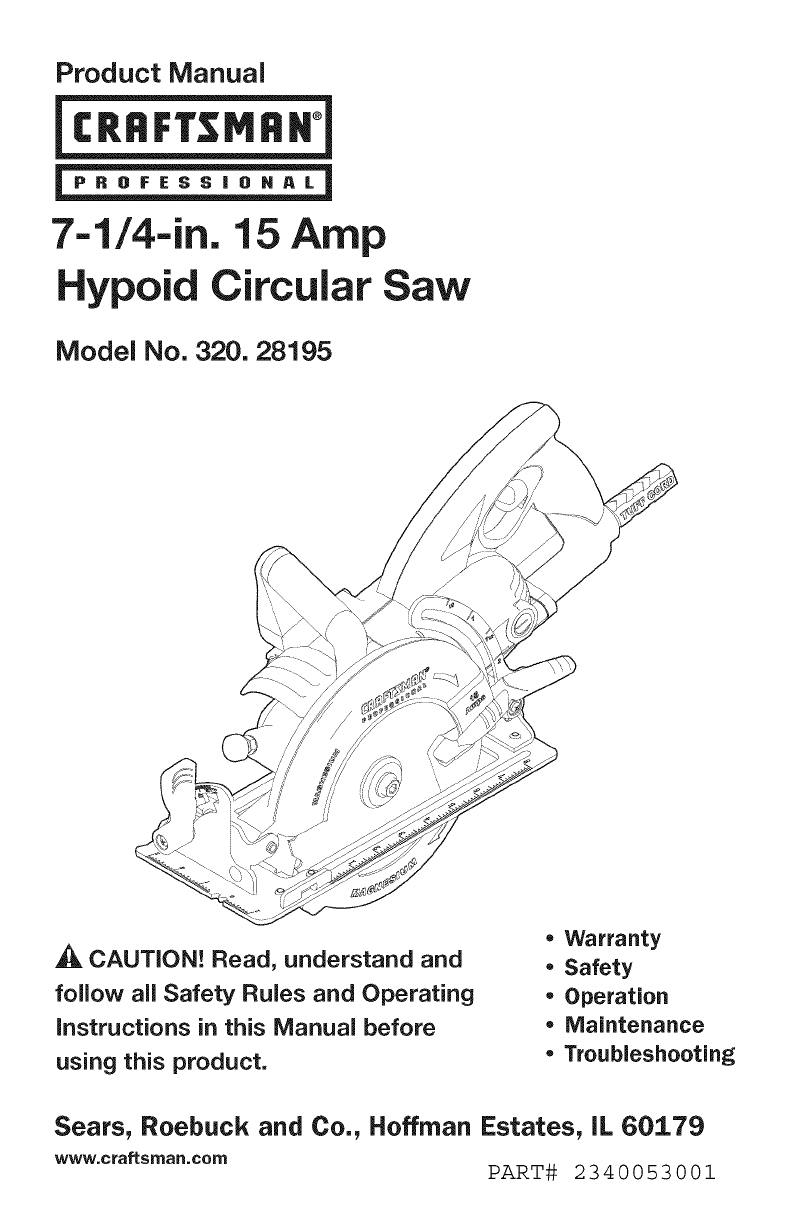 Wiring Diagram For Craftsman Circular Saw Electrical Compound Miter 32028195 User Manual Manuals And Guides L0812684 Pressure Washer