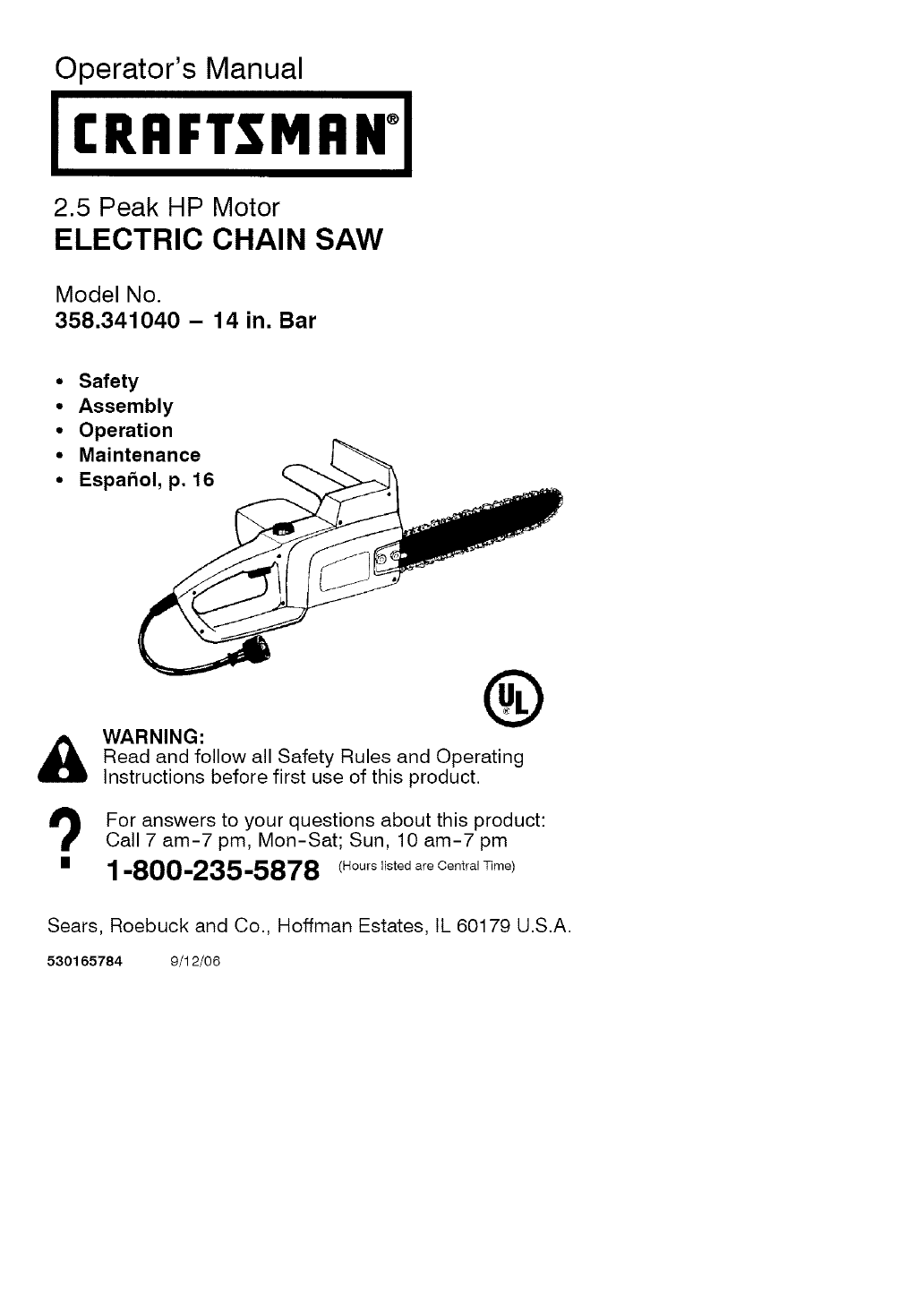 Craftsman 358341040 user manual electric chainsaw manuals and guides craftsman 358341040 user manual electric chainsaw manuals and guides l0609406 greentooth Choice Image