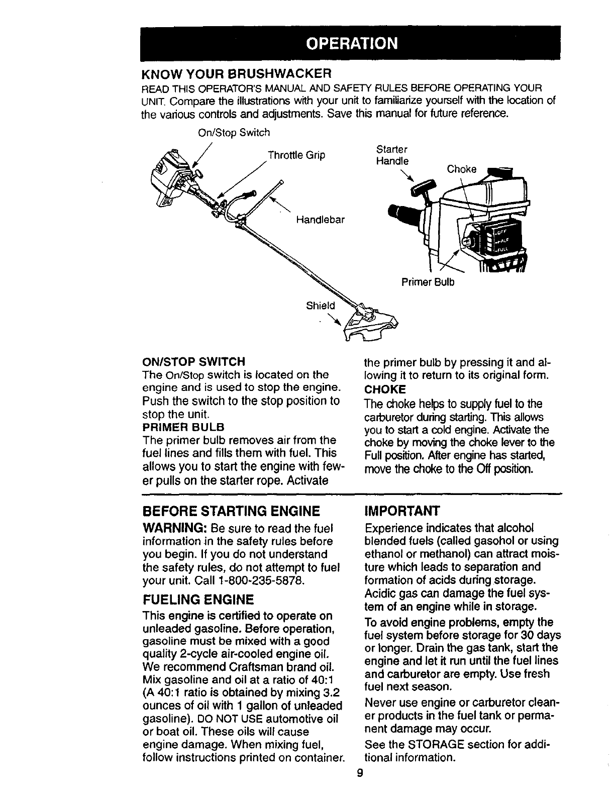 Craftsman Brushwacker 32cc Fuel Line Diagram