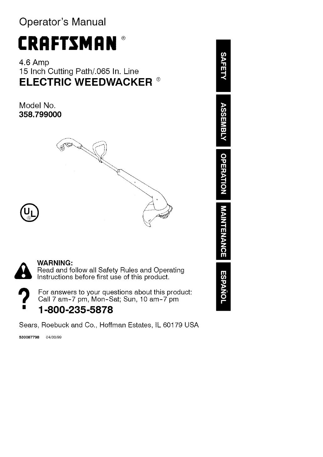 craftsman weedwacker ez fire manual open source user manual u2022 rh dramatic varieties com Craftsman Snow Blower Parts Manuals Craftsman LT 2000 Manual PDF