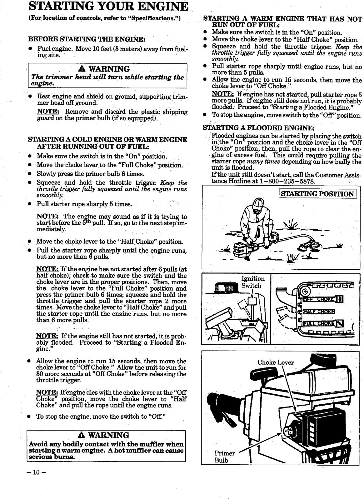 Craftsman 358799250 User Manual WEEDWACKER Manuals And Guides L0905149