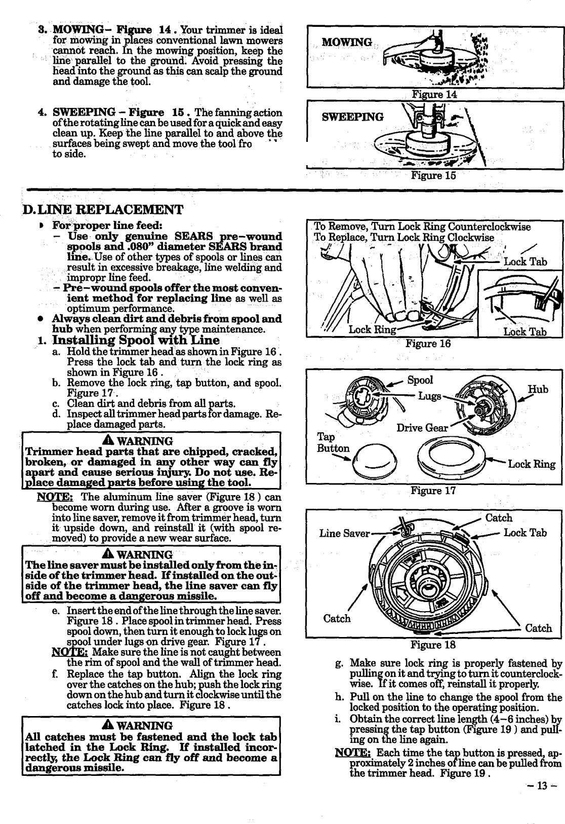 Craftsman 358799250 User Manual WEEDWACKER Manuals And