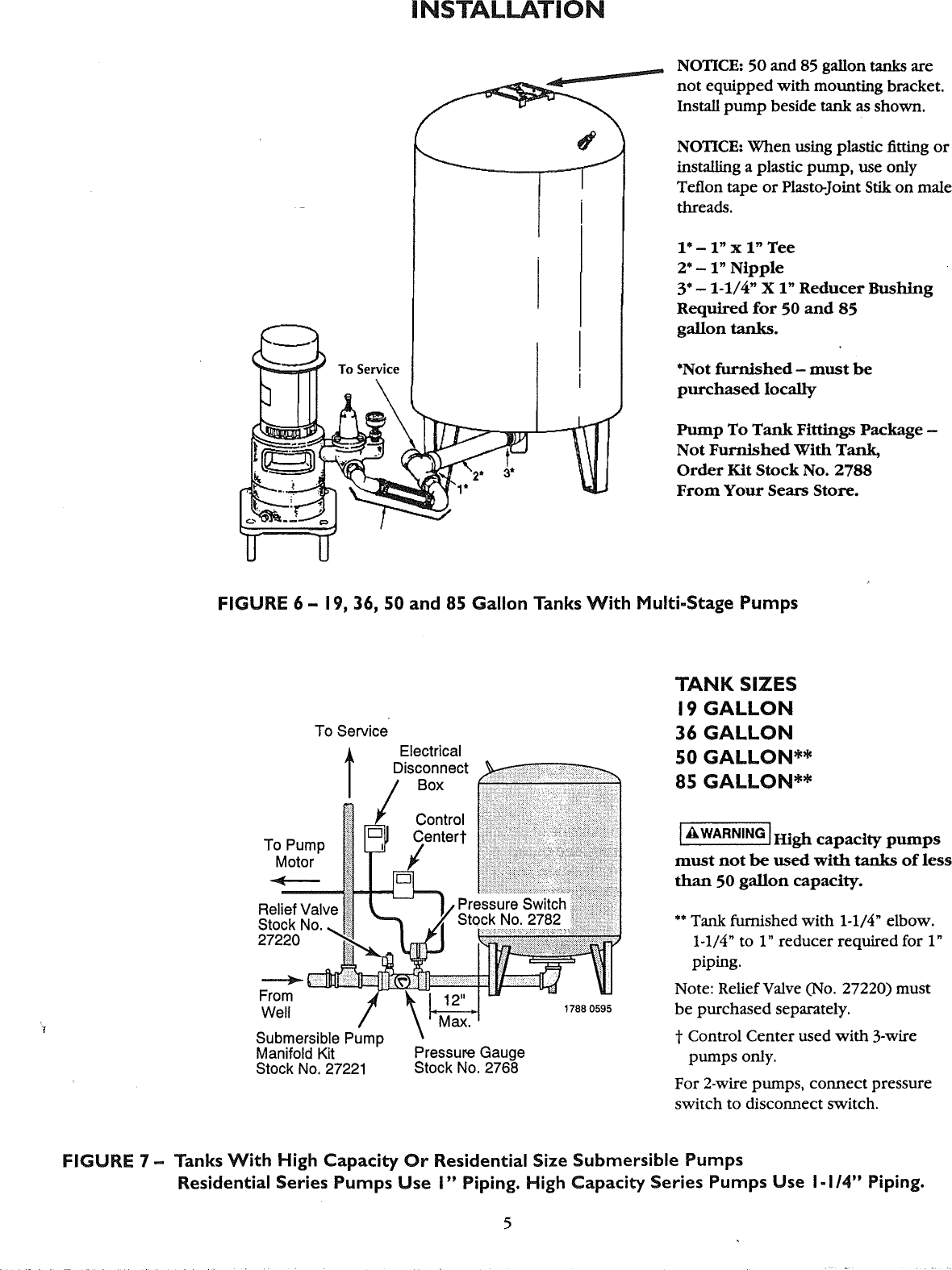 Craftsman 390291352 User Manual Captive Air Tank Manuals And Guides Two Wire Submersible Well Pump Diagram Page 5 Of 12