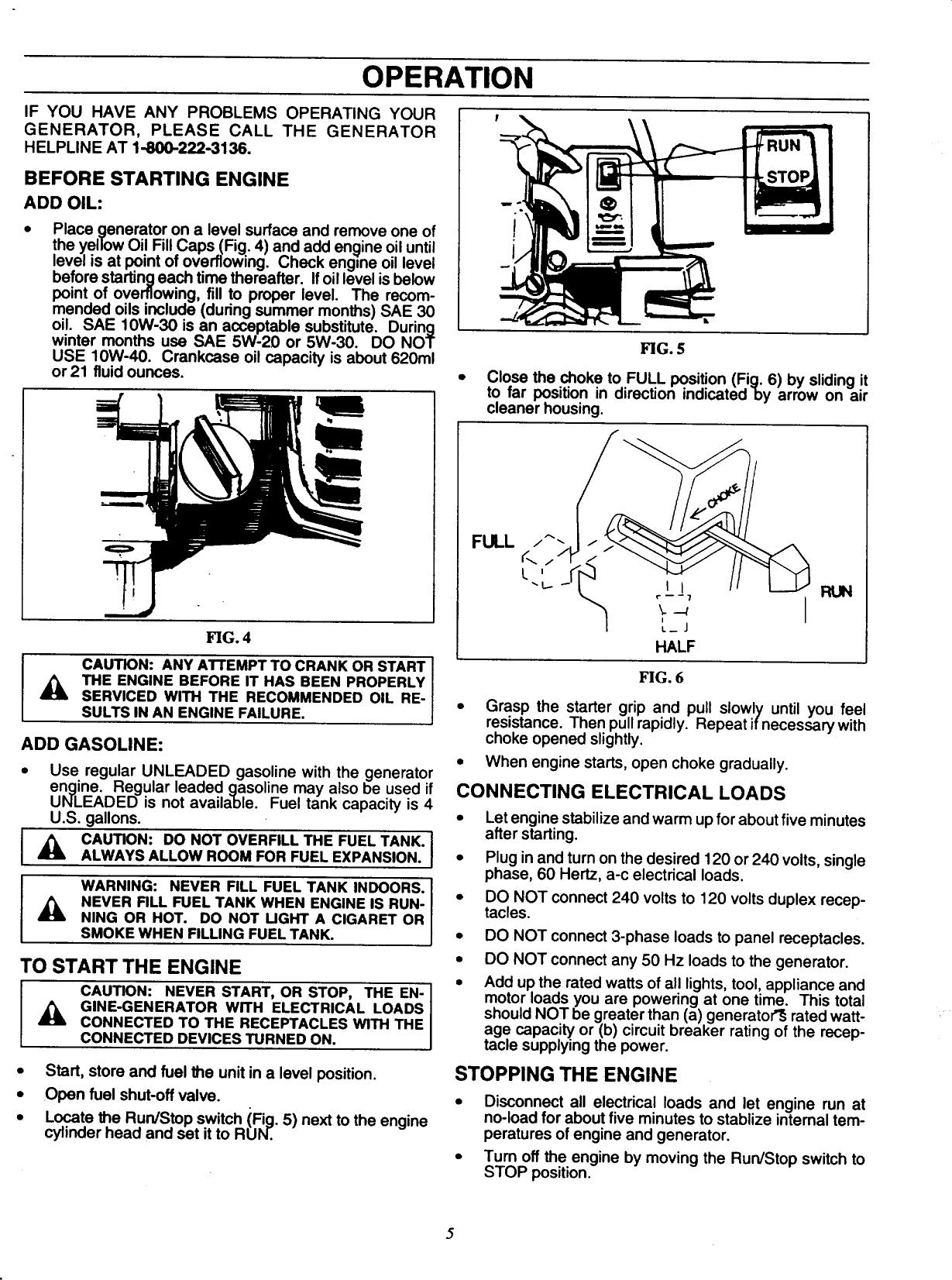 Craftsman 580326720 User Manual DELUXE PORTABLE GENERATOR