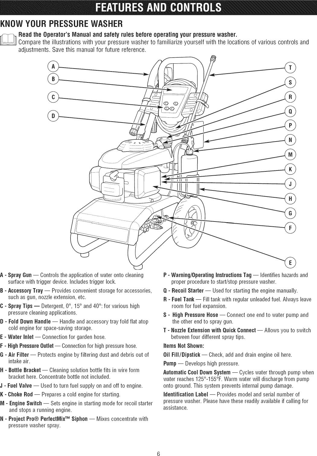 Craftsman 580752910 1112464L User Manual PRESSURE WASHER Manuals And
