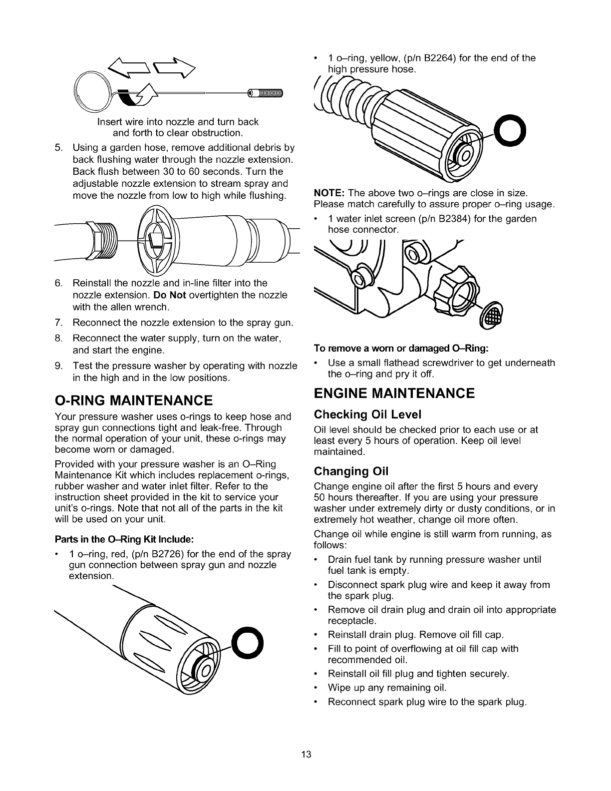 Craftsman 580767301 User Manual Pressure Washer Manuals And Guides Ring Flat Baja M8 Insert Wire Into Nozzle Turn Back