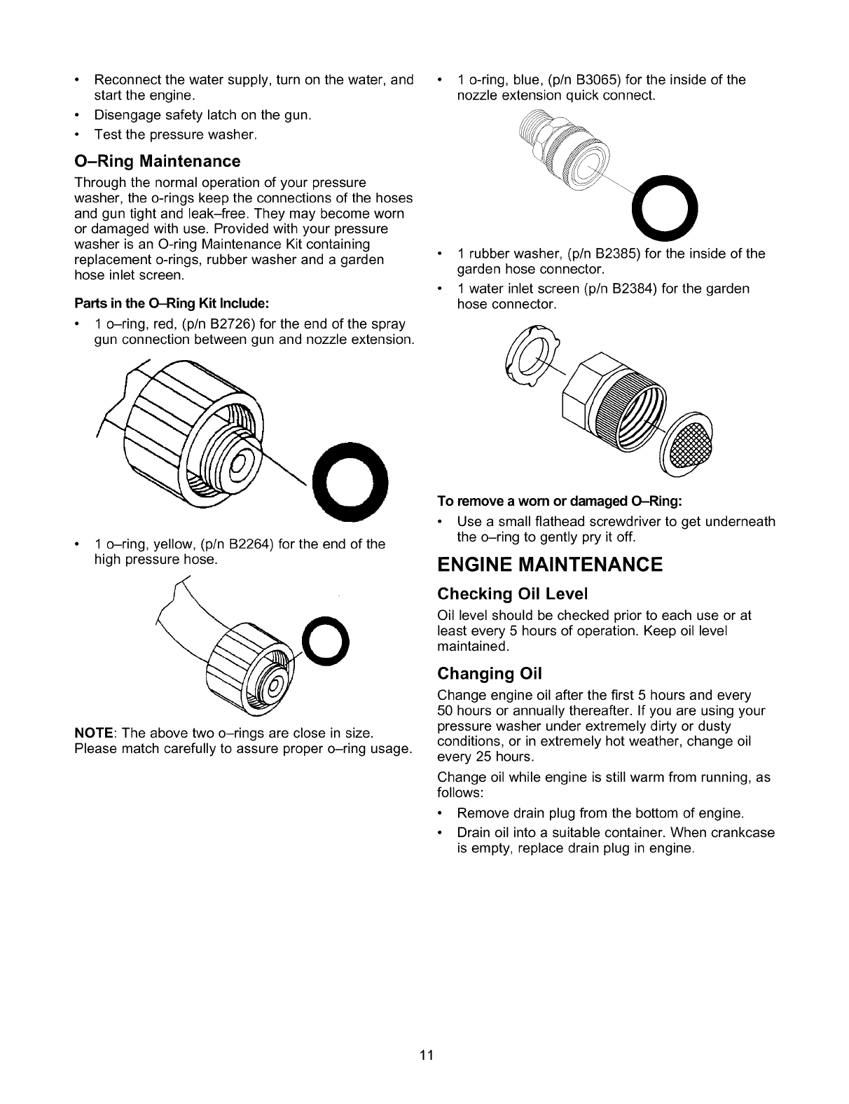 Craftsman 580768331 User Manual Pressure Washer Manuals And Guides Ring Flat Baja M8 Reconnectthewatersupplyturnonthewaterand