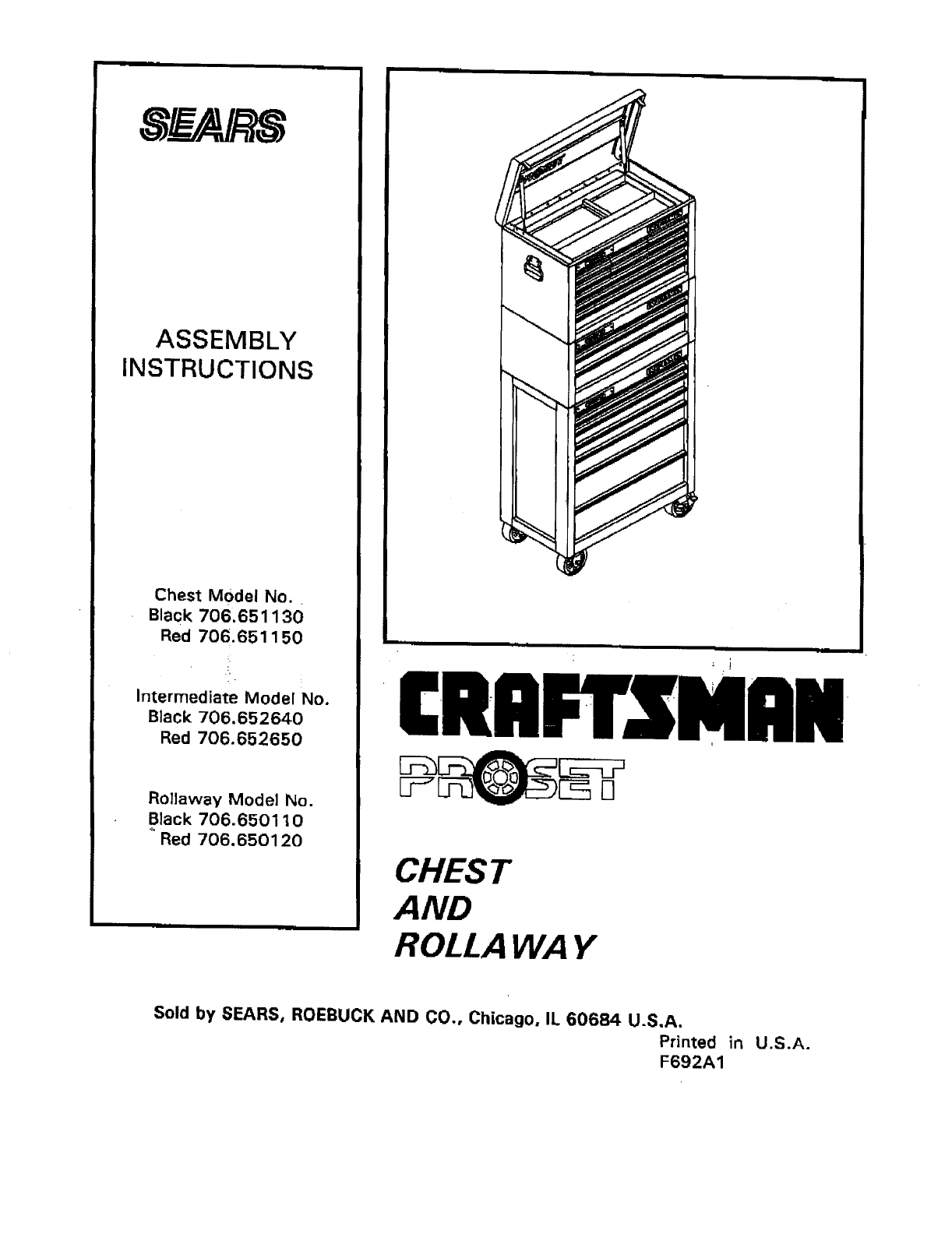 craftsman 706650110 user manual tool chest manuals and guides l0908372 rh usermanual wiki craftsman tool manual download craftsman rotary tool manual