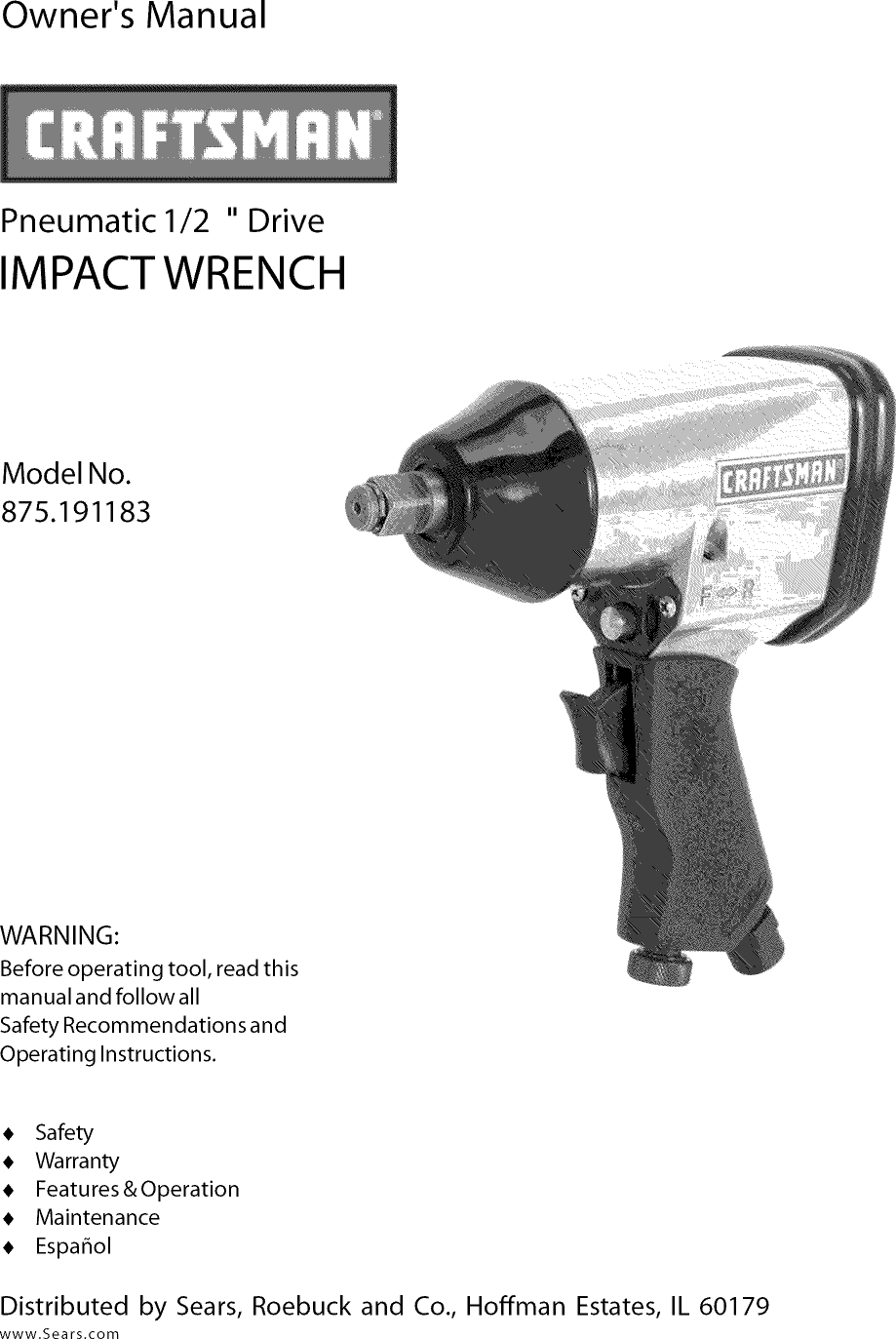 Companion Impact Wrench Parts Manual Guide