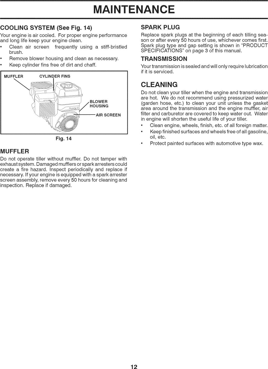 Craftsman 91725009 User Manual FRONT TILLER Manuals And Guides 1201331L