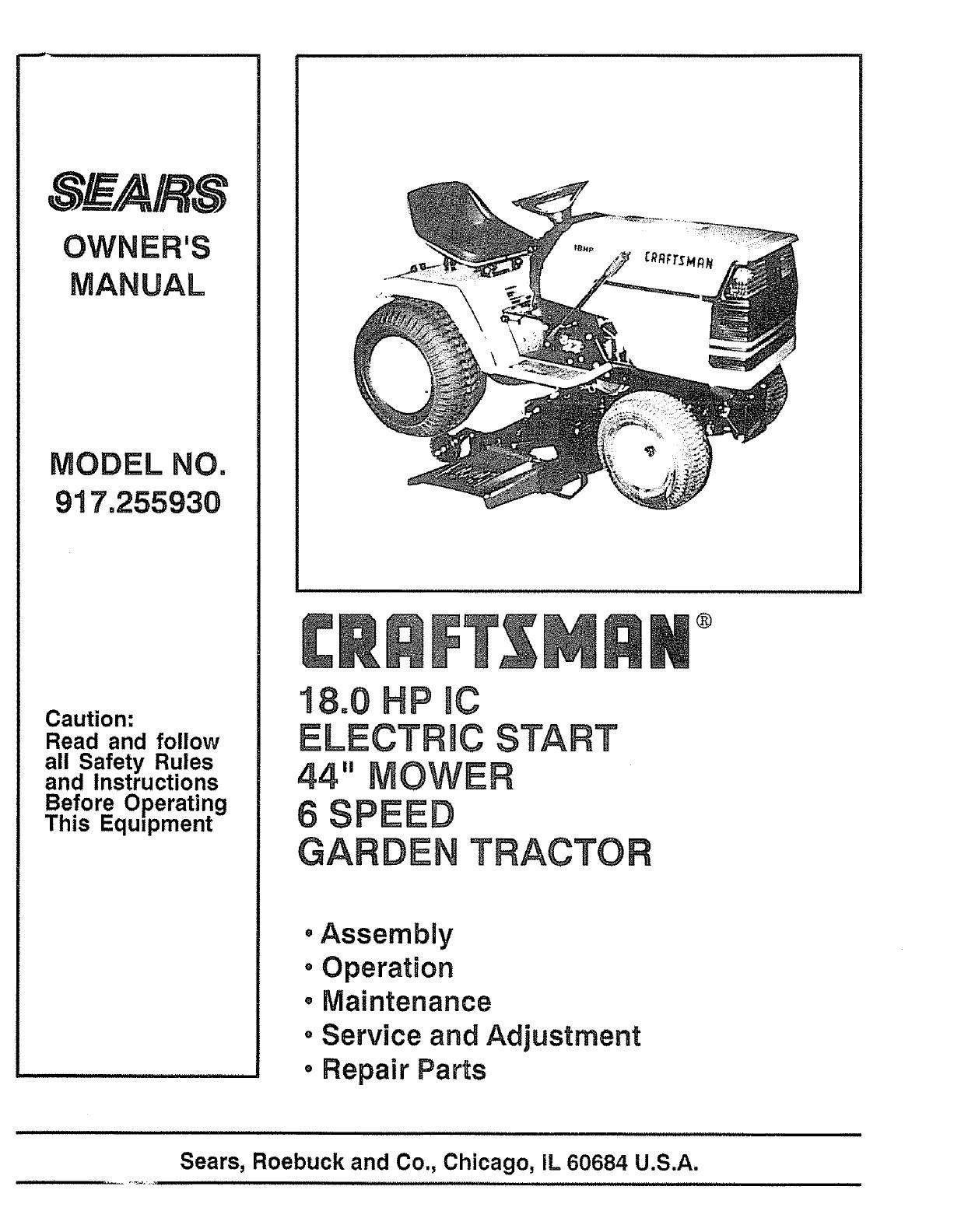 V-BELT 106381X CRAFTMAN Sear RIDER Lawn MOWER