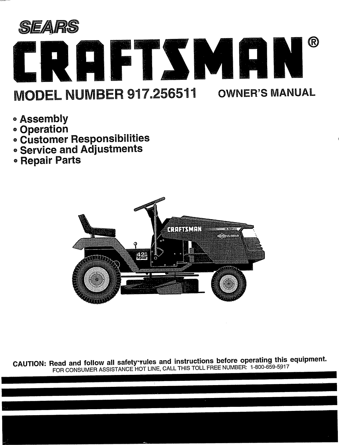 Craftsman 917256511 User Manual Tractor Manuals And Guides L1005584 Turtle Wax Ampamp Dry Spray T9