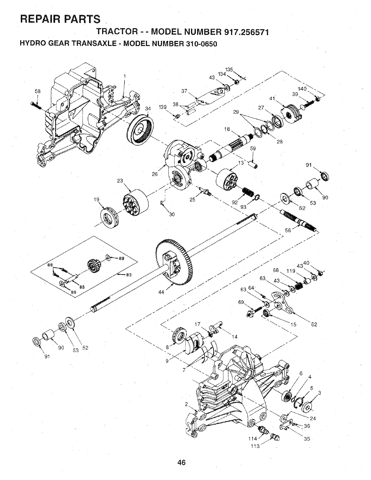 Craftsman 917256571 User Manual Tractor Manuals And Guides L0711532 134 Engine Exhaust Valve Diagram Repair Parts