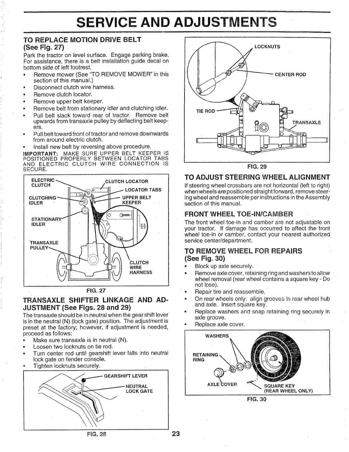 Craftsman 917256701 User Manual Tractor Manuals And Guides L0904462 Keeper Trailer Wiring Harness