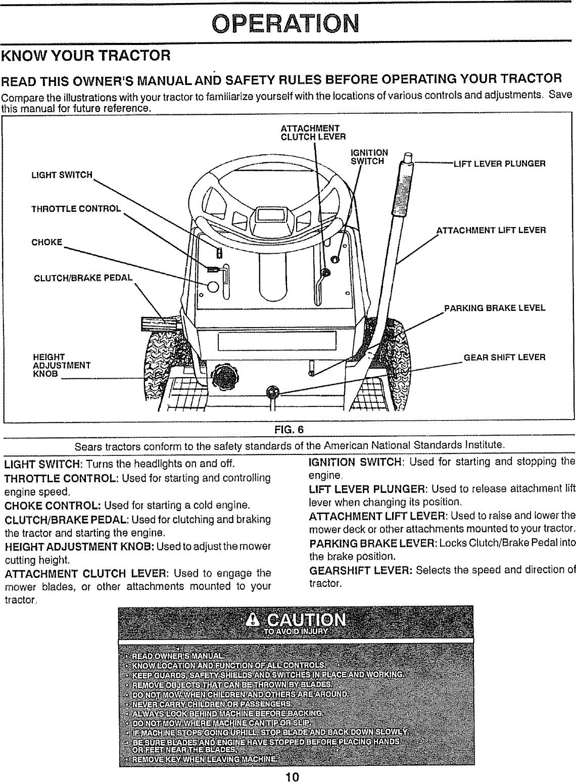 Craftsman 917257480 User Manual 18 HP 38 RIDING GARDEN