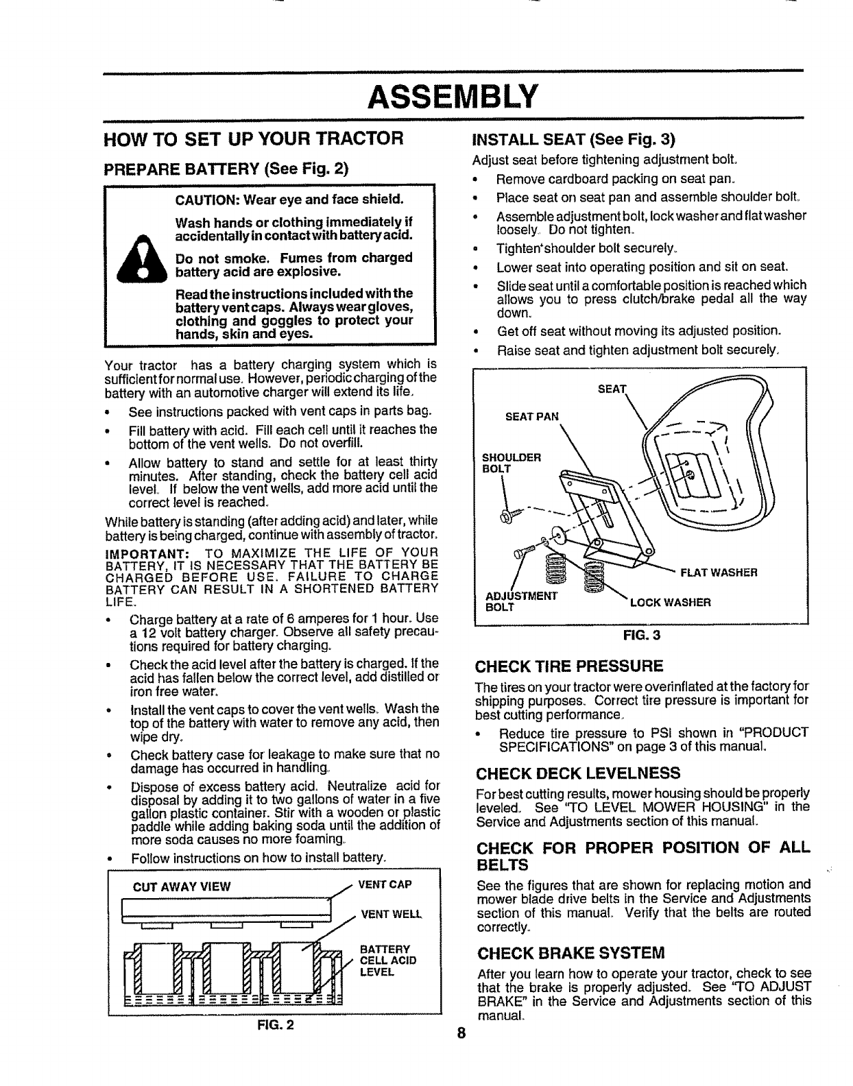 Craftsman 917257632 User Manual Tractor Manuals And Guides 1006757l The Zinc Carbon Dry Cell Or Battery Shown In A Cutaway Diagram Is Jl
