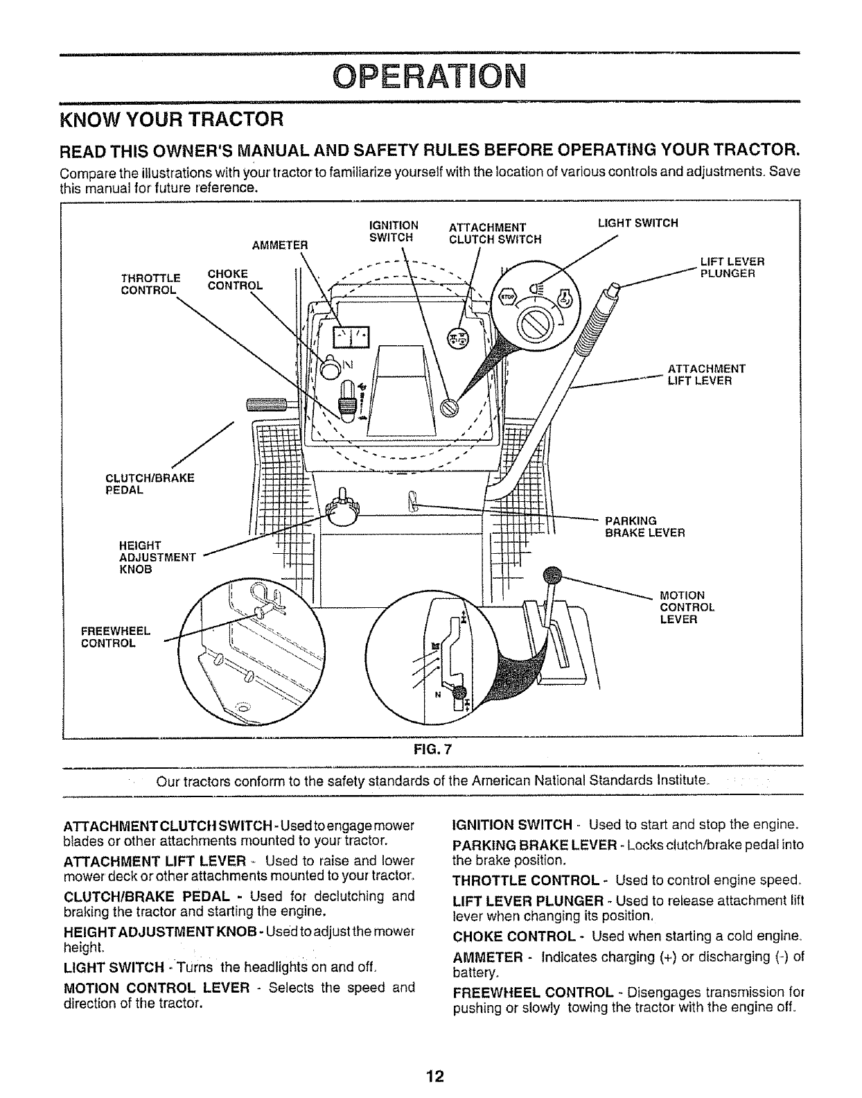 Craftsman 917258691 User Manual Tractor Manuals And Guides L0806170 Wiper Motor Wiring Iains Seven I Hhh Operatmo