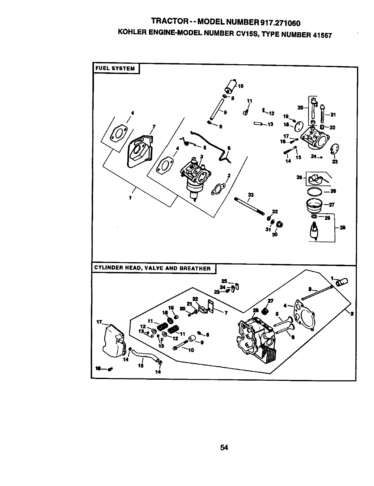 Craftsman 917271060 User Manual 155hp 42 Automatic Lawn Tractor Kohler 18 Hp 1046 Wiring Diagram Model Number