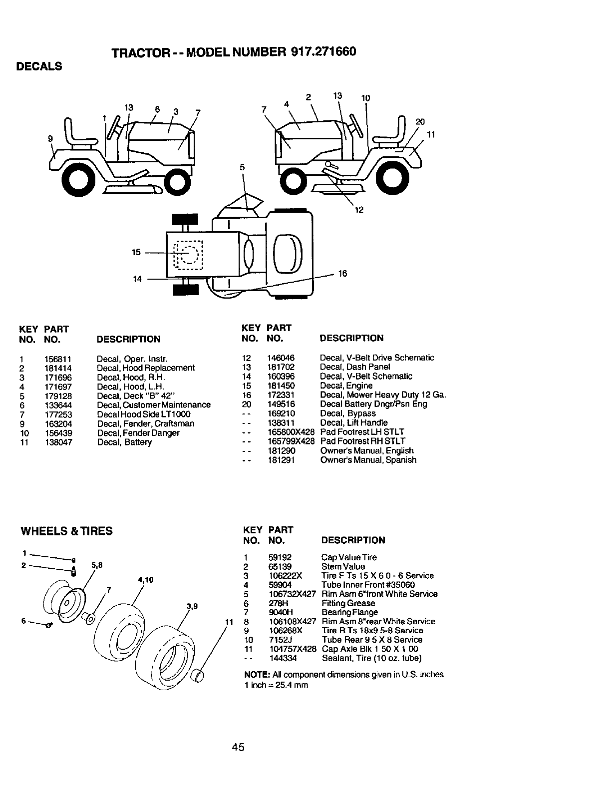 white tractor lt 13 wiring diagram craftsman 917271660 user manual lawn tractor manuals and guides  917271660 user manual lawn tractor
