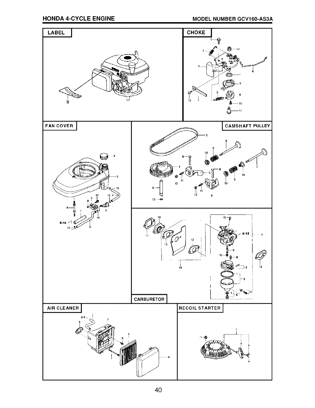 Craftsman 917376093 User Manual Mower Manuals And Guides L0605337 Honda Gc160 5 0 Engine Spring Diagram 4 Cycle Model Number Gcv160 As3a