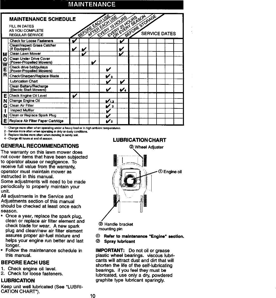 Craftsman 917378060 User Manual LAWN MOWER Manuals And