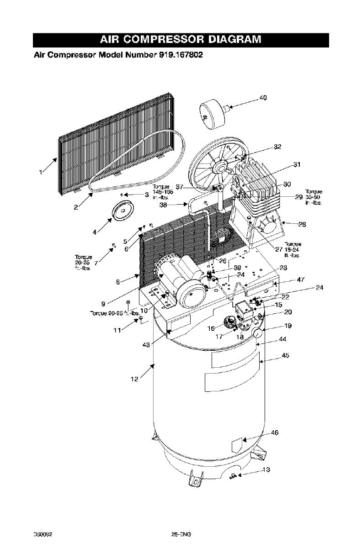 Craftsman 919167802 User Manual Air Compressor Manuals And Guides Meyer Night Saber Wiring Diagram Model Number