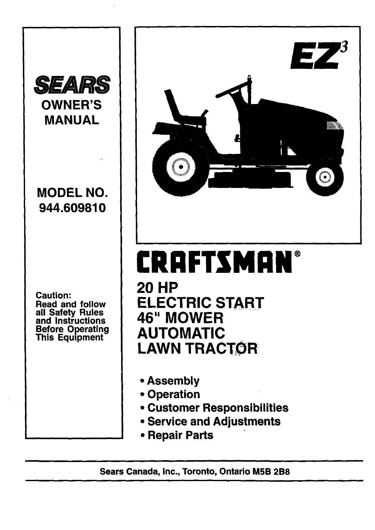 Craftsman 944 owners manual