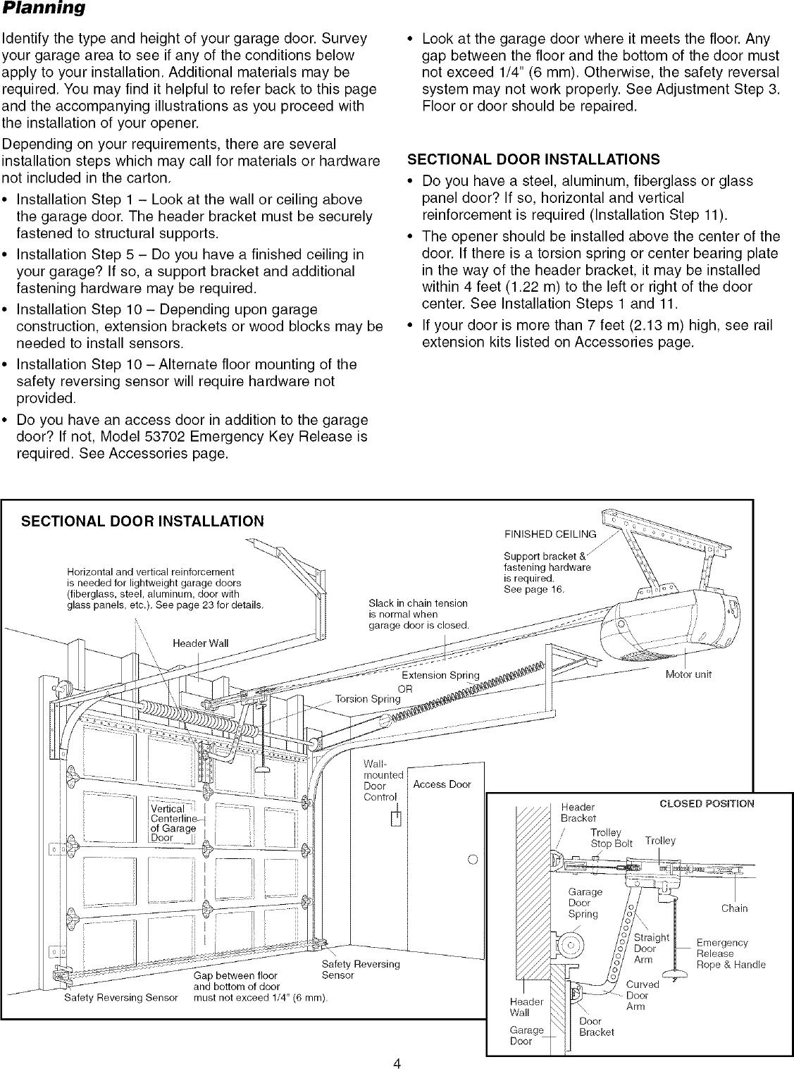 Craftsman 1 2 Hp Garage Door Opener Manual 53930 Dandk