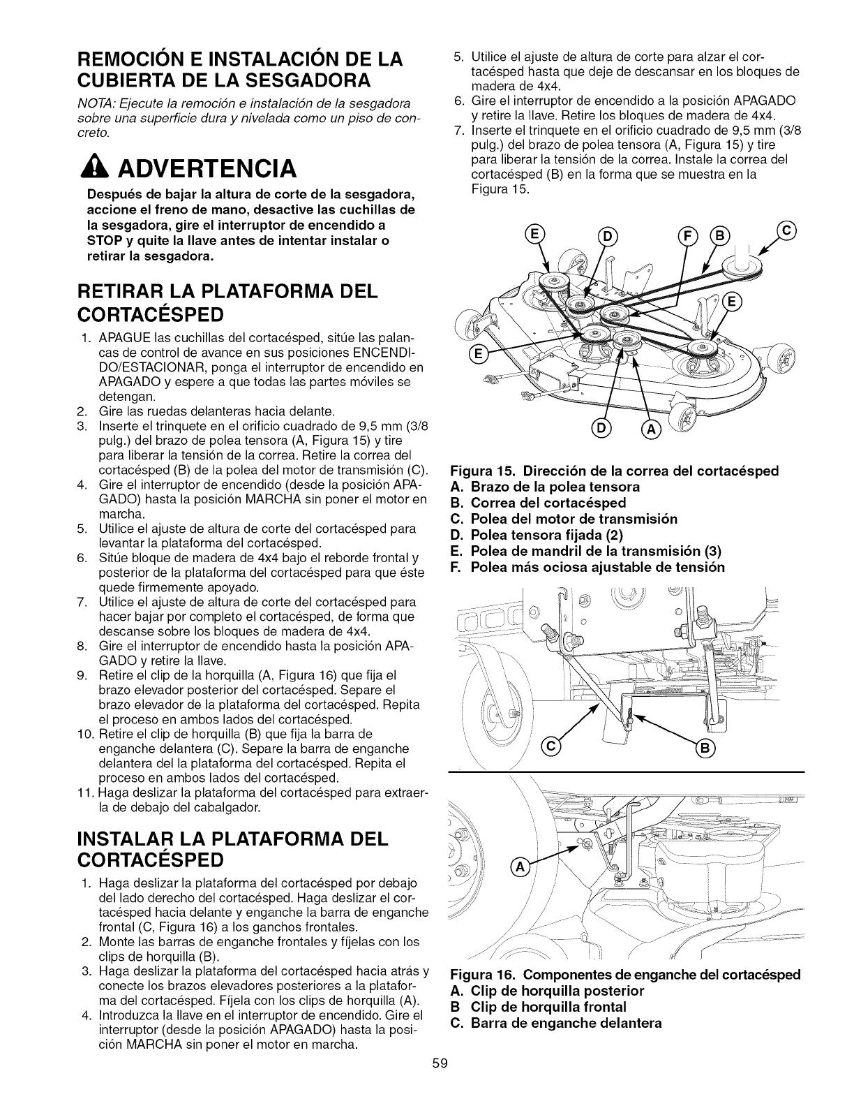 Craftsman 28992 Operators Manual F Stop Mano Remocion E Instalacion De La