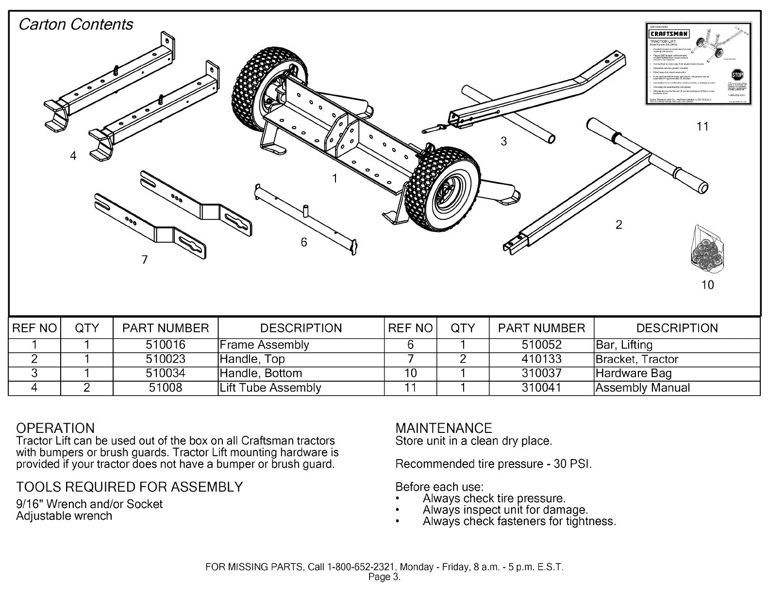 tractor manual tube