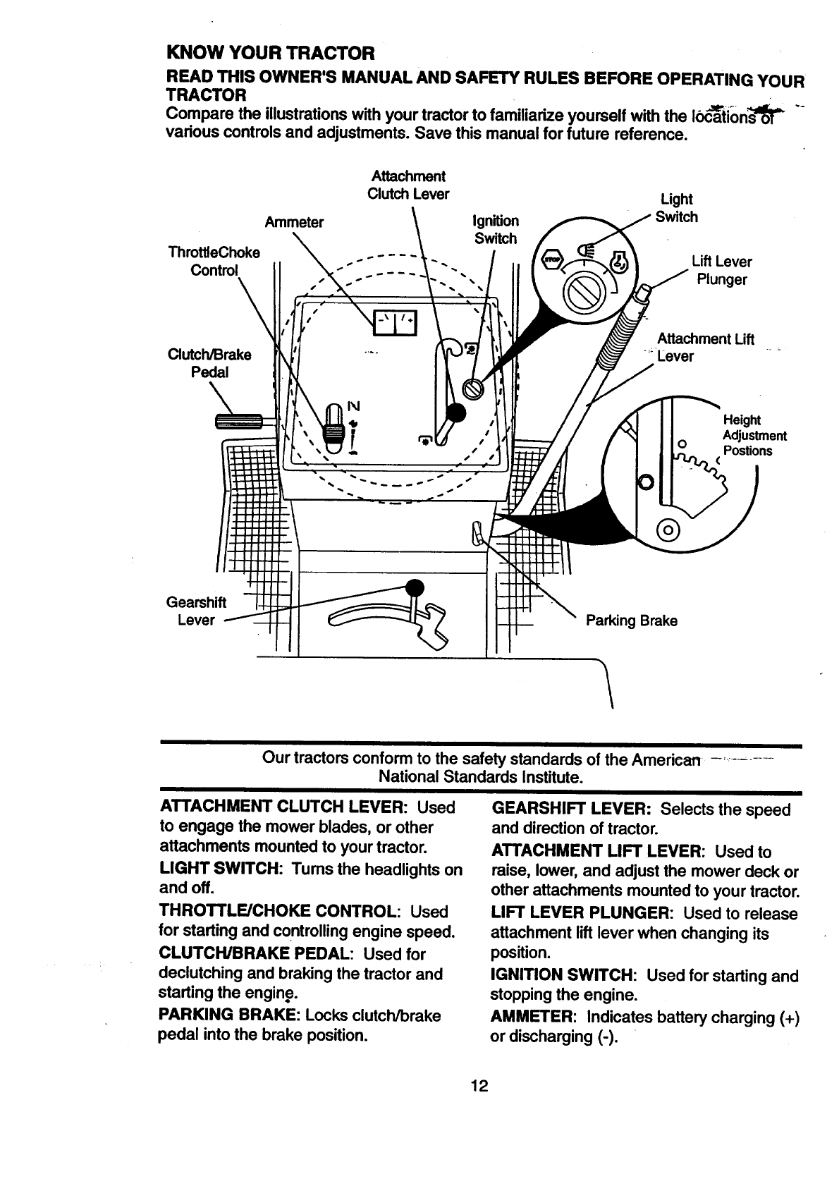 Craftsman 917 270512 Users Manual Governor Linkage Diagrams Besides Briggs Stratton Carburetor Diagram Know Your Tractor
