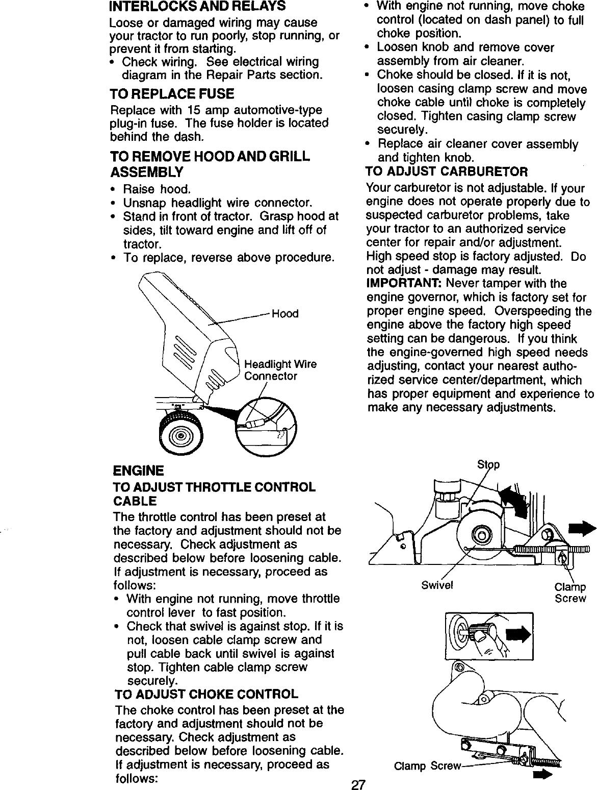 Craftsman 917 27076 Users Manual on