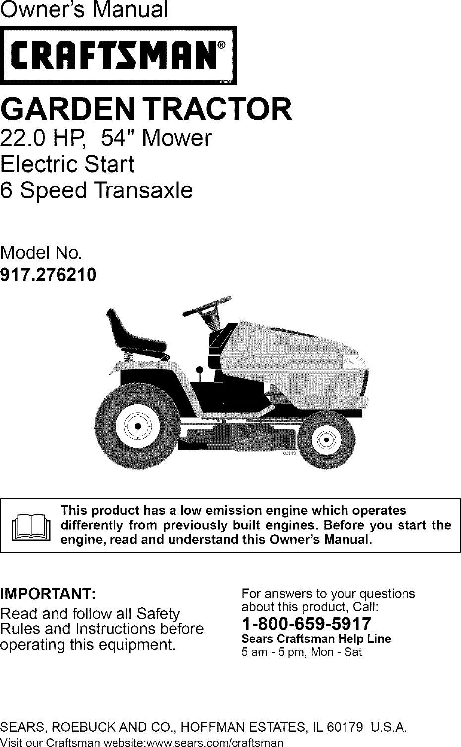 Craftsman 917 27621 Users Manual Engine 8 Hp Diagram And Parts List For Briggs Stratton Allproducts