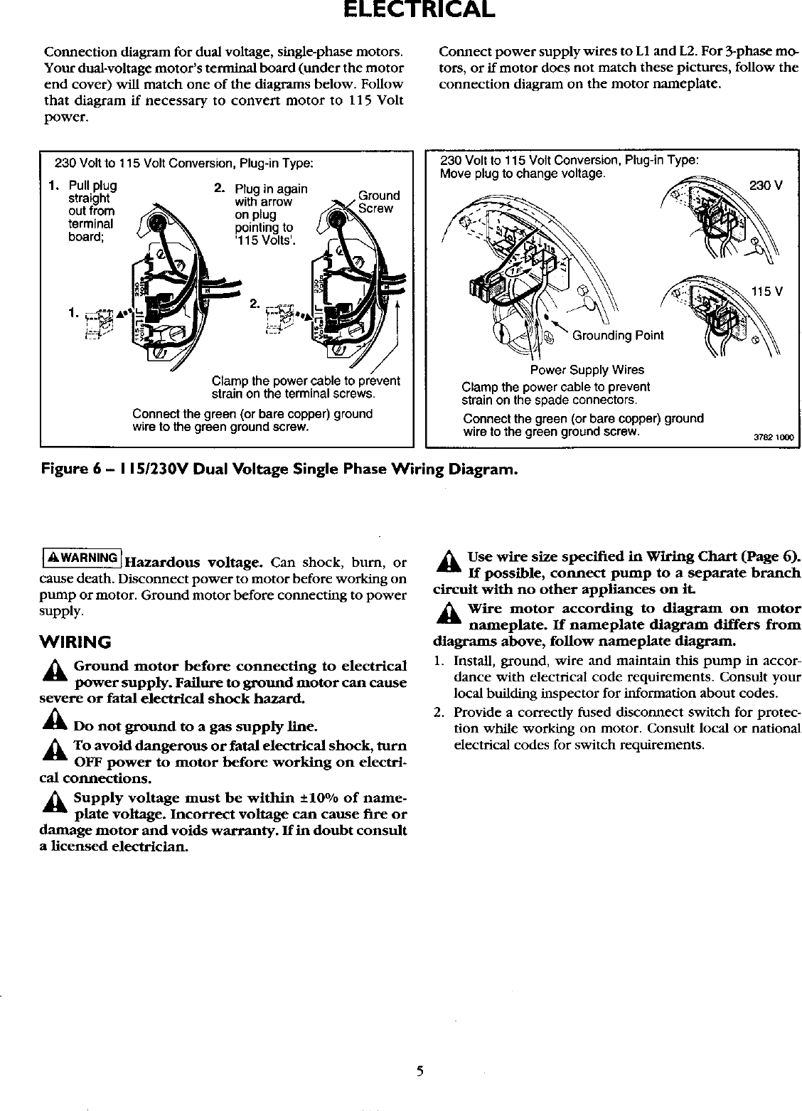 Craftsman Hydroglass 390 262653 Users Manual Phase For Diagram Three Wiring Gas Booster Page 5 Of 12