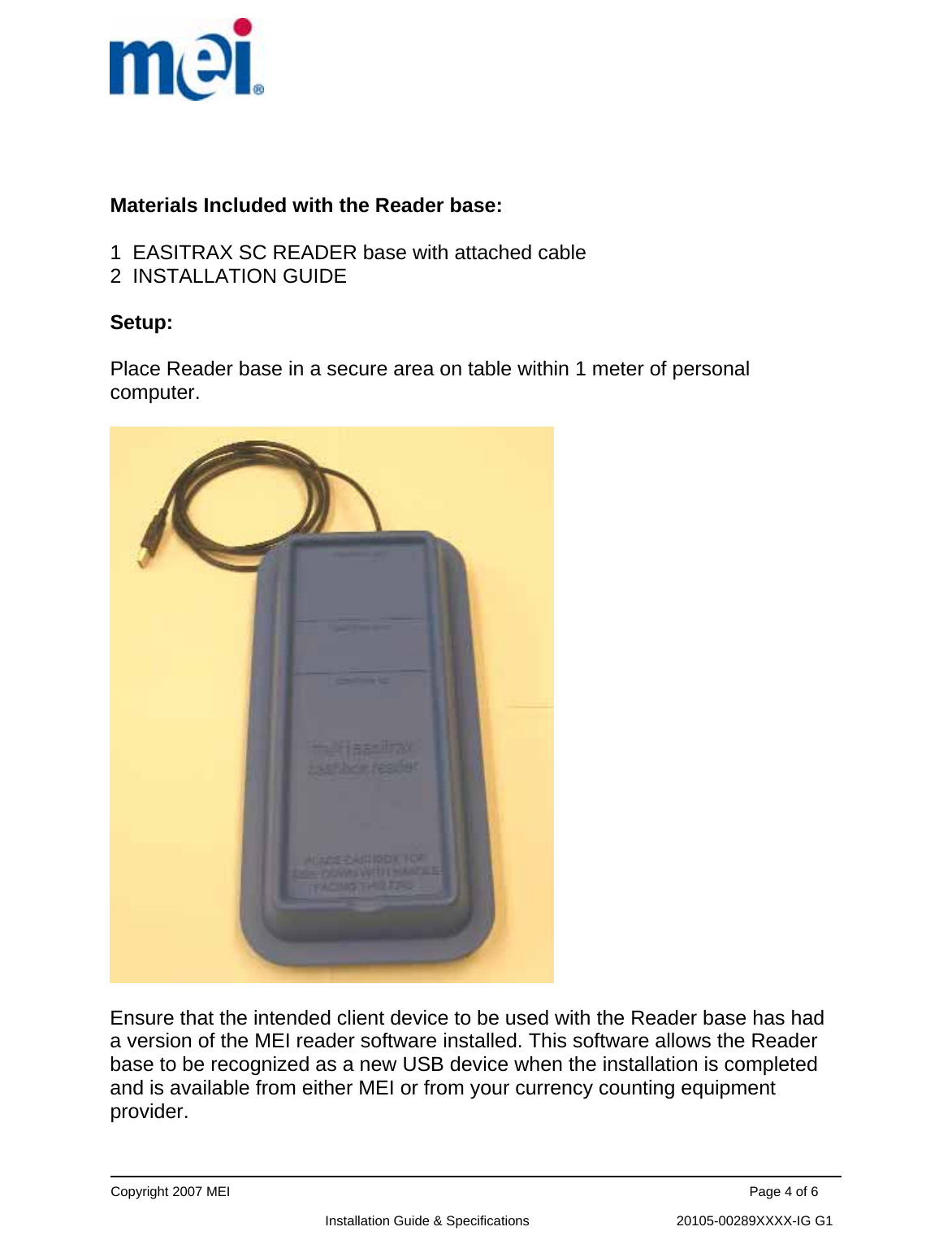 Crane Payment Innovations EASITRAXRB RFID System User Manual