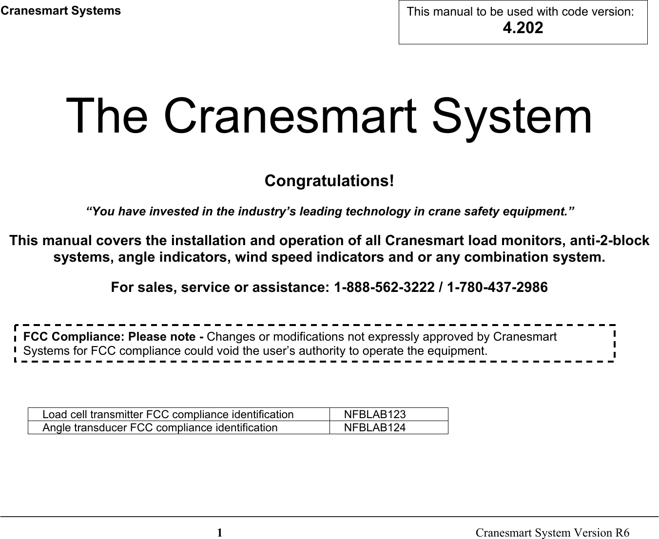 cranesmart systems lab123 wireless weight transducer user manual 900 rh usermanual wiki User Manual Icon User Manual PDF