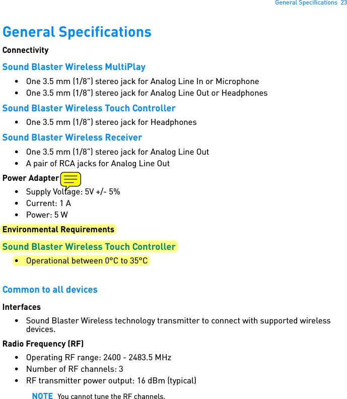 Creative Labs AVPSB1250 Sound Blaster Wireless Touch