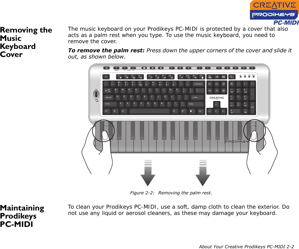 Creative Prodikeys Pc Midi Users Manual Keyboard