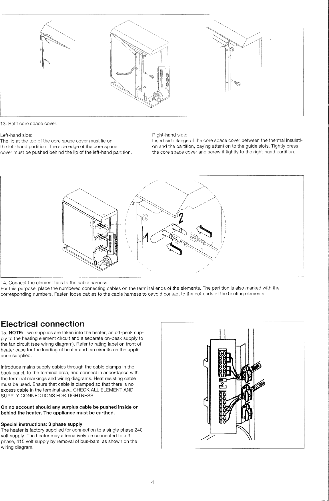 Creda Tsf24k Users Manual 415 Volt 3 Phase Wiring Diagram Page 4 Of 8