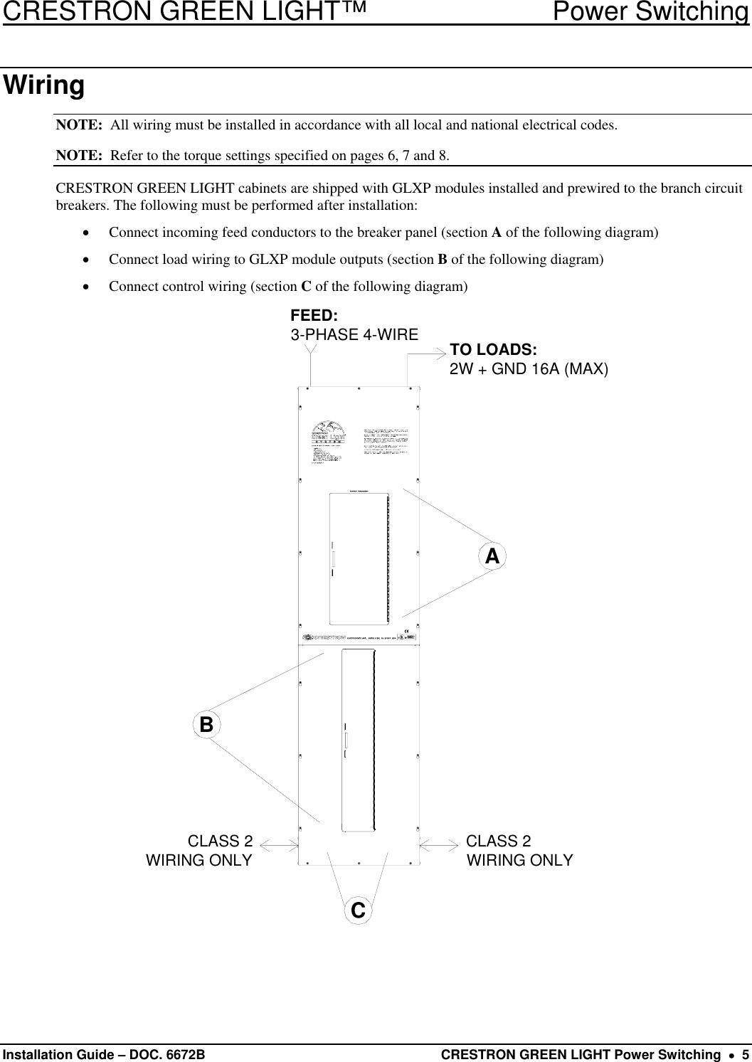 crestron electronic green light power switching users manual descriptionDiagram For Wiring Sw10 #14