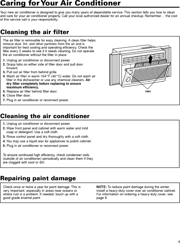 Crosley CA5WMVK0 User Manual AIR CONDITIONER Manuals And Guides ...