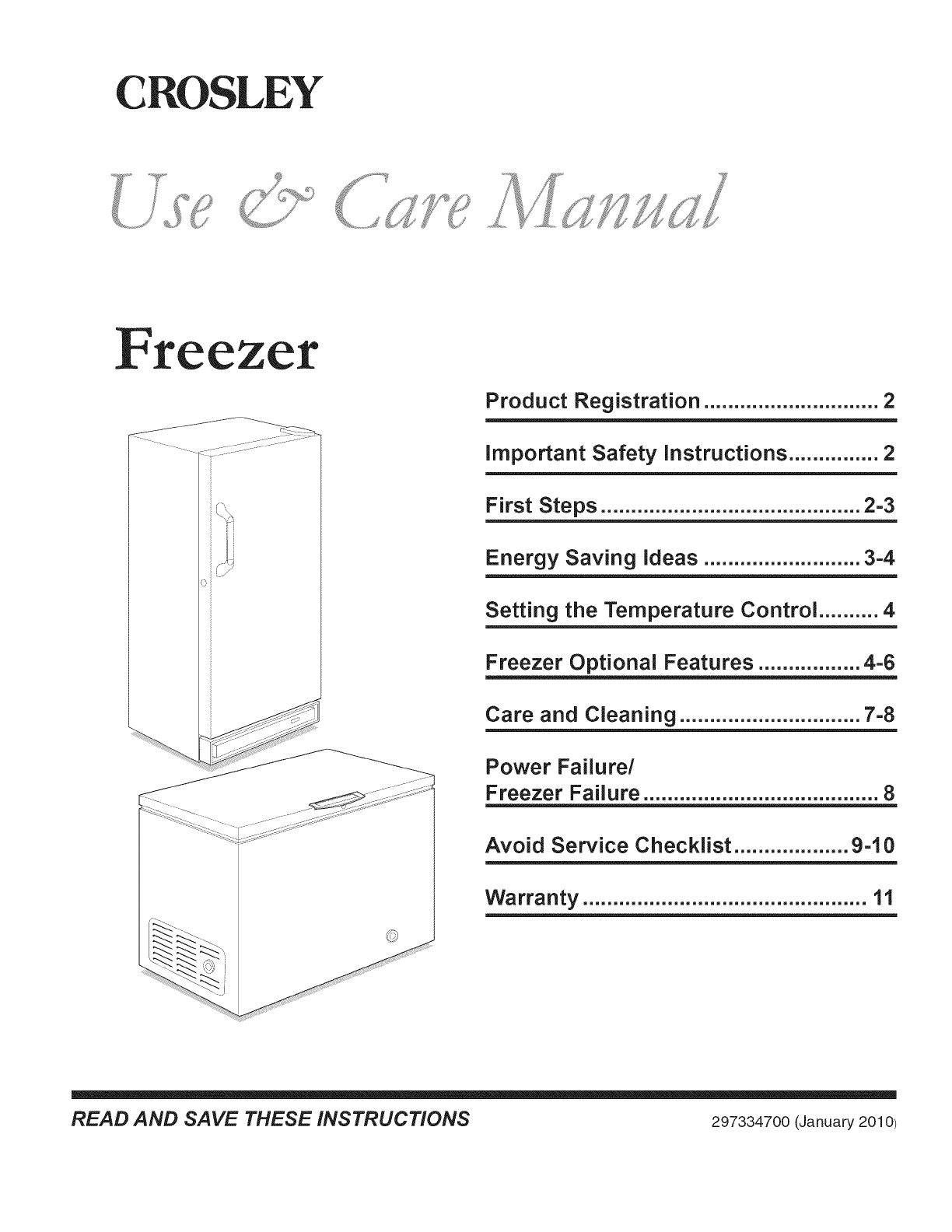 Crosley Cfc09lw0 User Manual Freezer Manuals And Guides L1002466