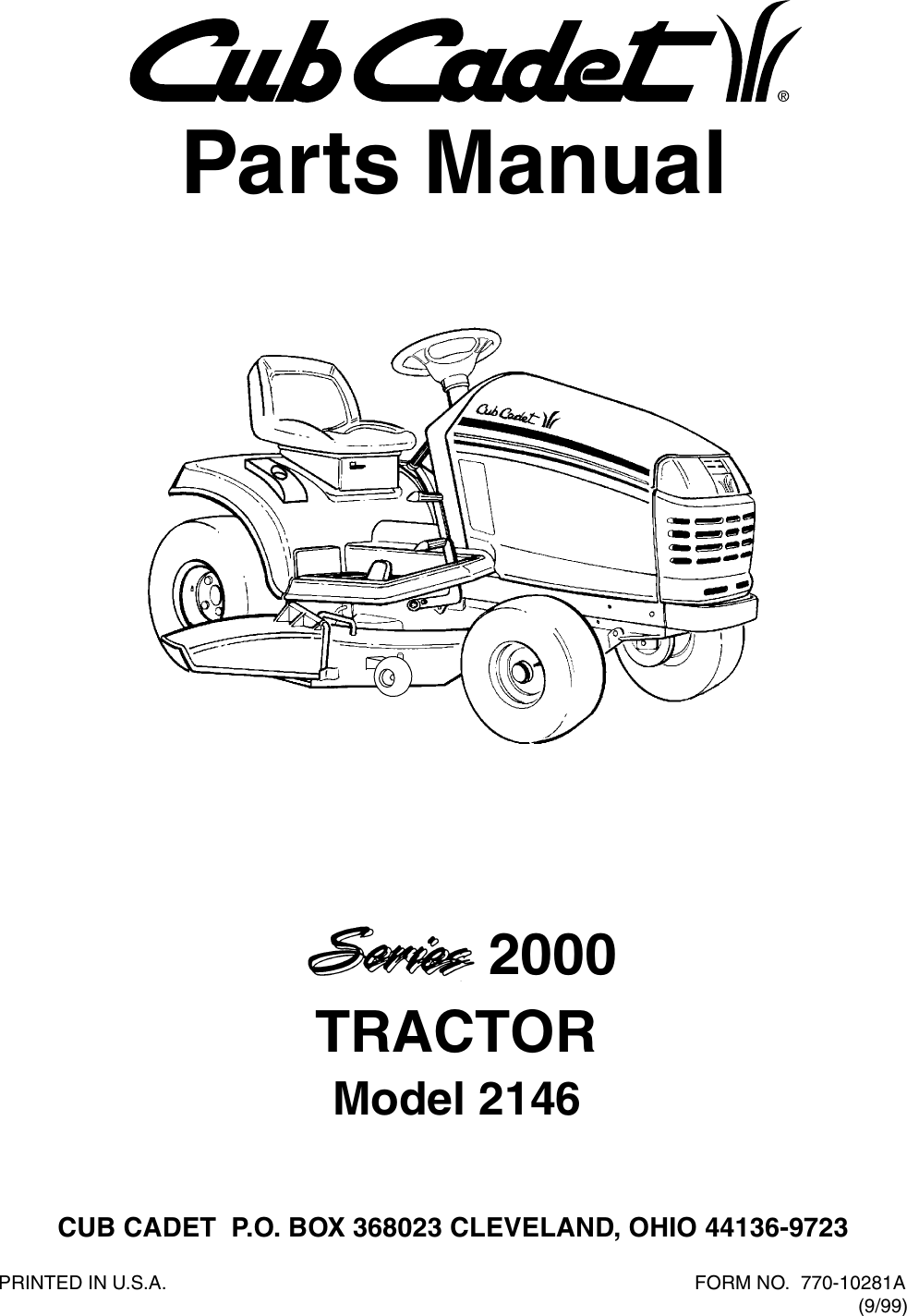 Cub Cadet 2146 Parts Manual Manualslib Makes It Easy To Find Manuals Wiring Diagram Online