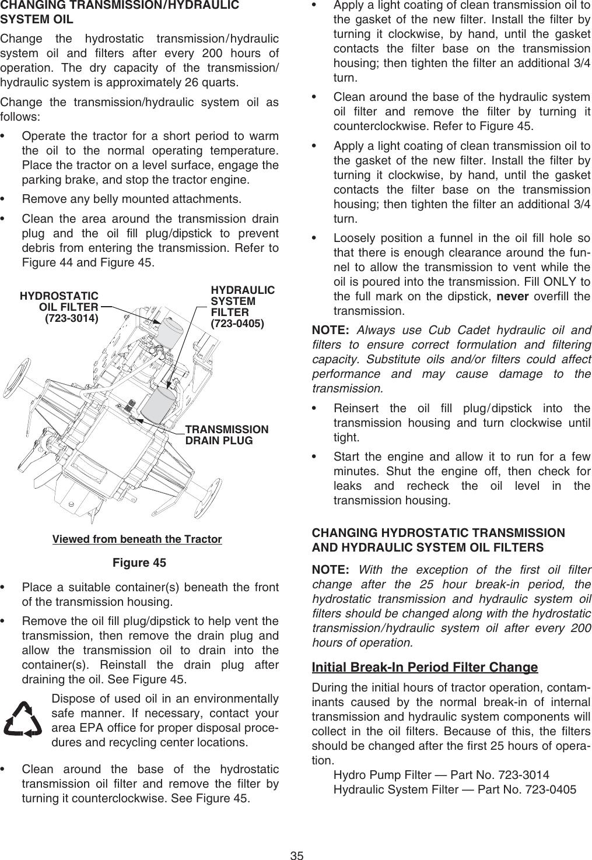 Cub Cadet 6284 Operators Manual Frt Cvr