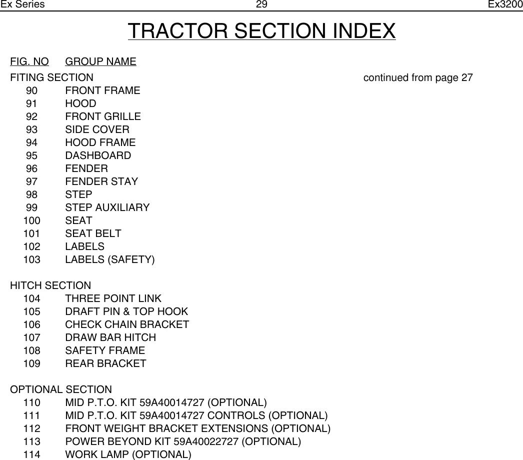 Cub Cadet Ex32002 Parts List CY IPL Coverv V2