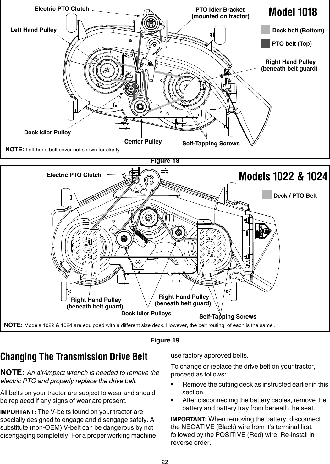 Cub Cadet Lt1018 Pto Belt Diagram