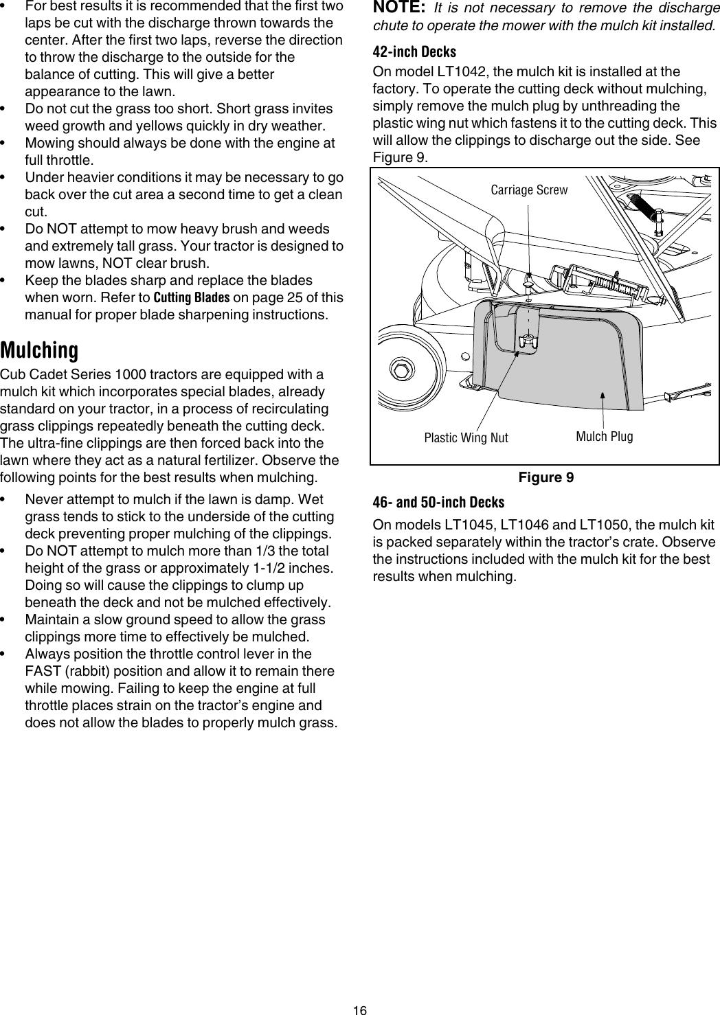 Cub Cadet Lt1045 Operators Manual 769 01514B on