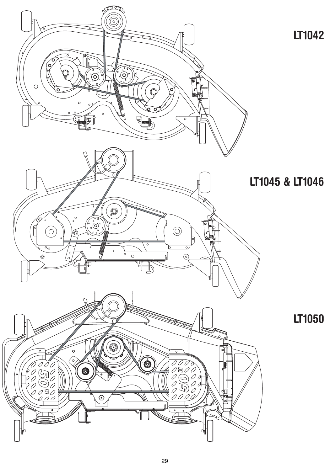 35 Cub Cadet Lt1045 Belt Diagram